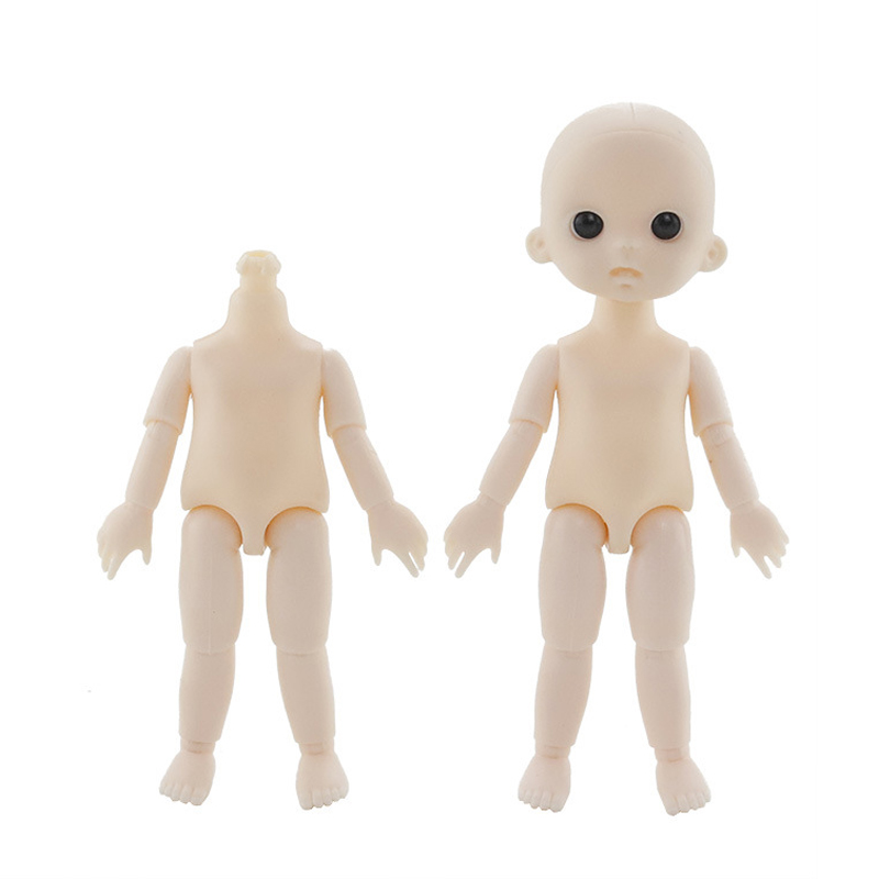 New 16cm 13 Movable Jointed Dolls Toys Mini Bald Head BJD Baby Doll DIY Naked Nude Ob11 Body Dolls Toy For Girls Gift