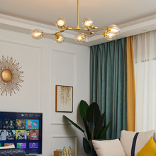 Modern Led Chandeliers Glass-Ball Hanging-Lamp LOFT Bedroom Lighting Stairs Indoor-Decor