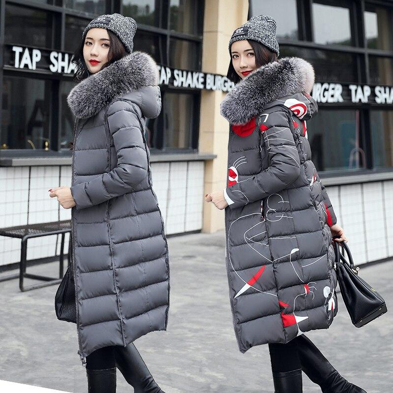 Двусторонняя одежда длинная парка Женская пуховая куртка 2019 теплая Толстая Женская зимняя куртка с меховым воротником и капюшоном повседн...