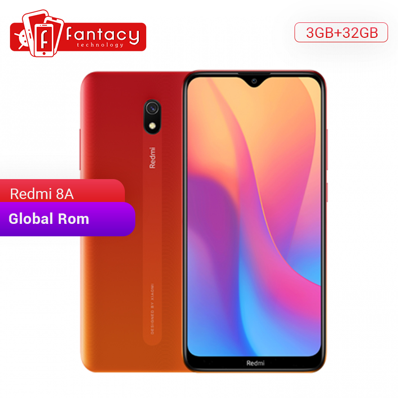 Global Rom Xiaomi Redmi 8A 8 A 3GB 32GB 6.22' Full Screen Snapdargon 439 Octa Core Mobile Phone 5000mAh 12MPAI Camera Smartphone
