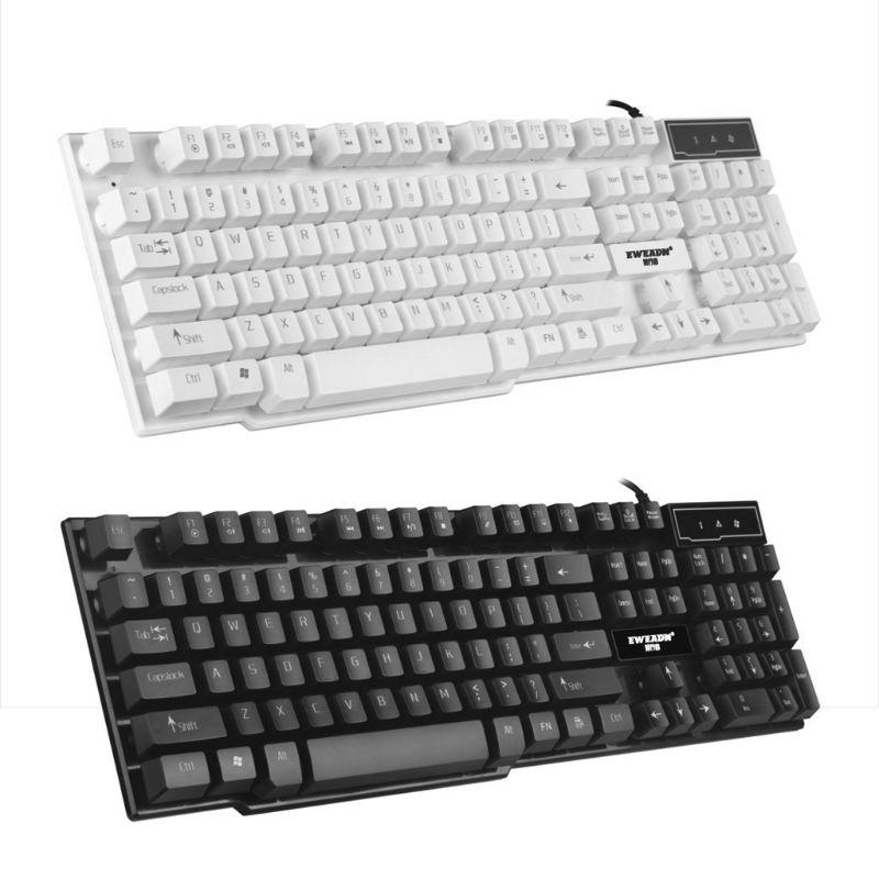Gaming Keyboard Glowing Backlit Color Change Laptop Computer Desktop Keyboard