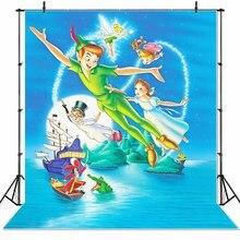 Seekprovinyl ピーターパン船子供の写真の背景誕生日写真バナー peronalized photocall 背景