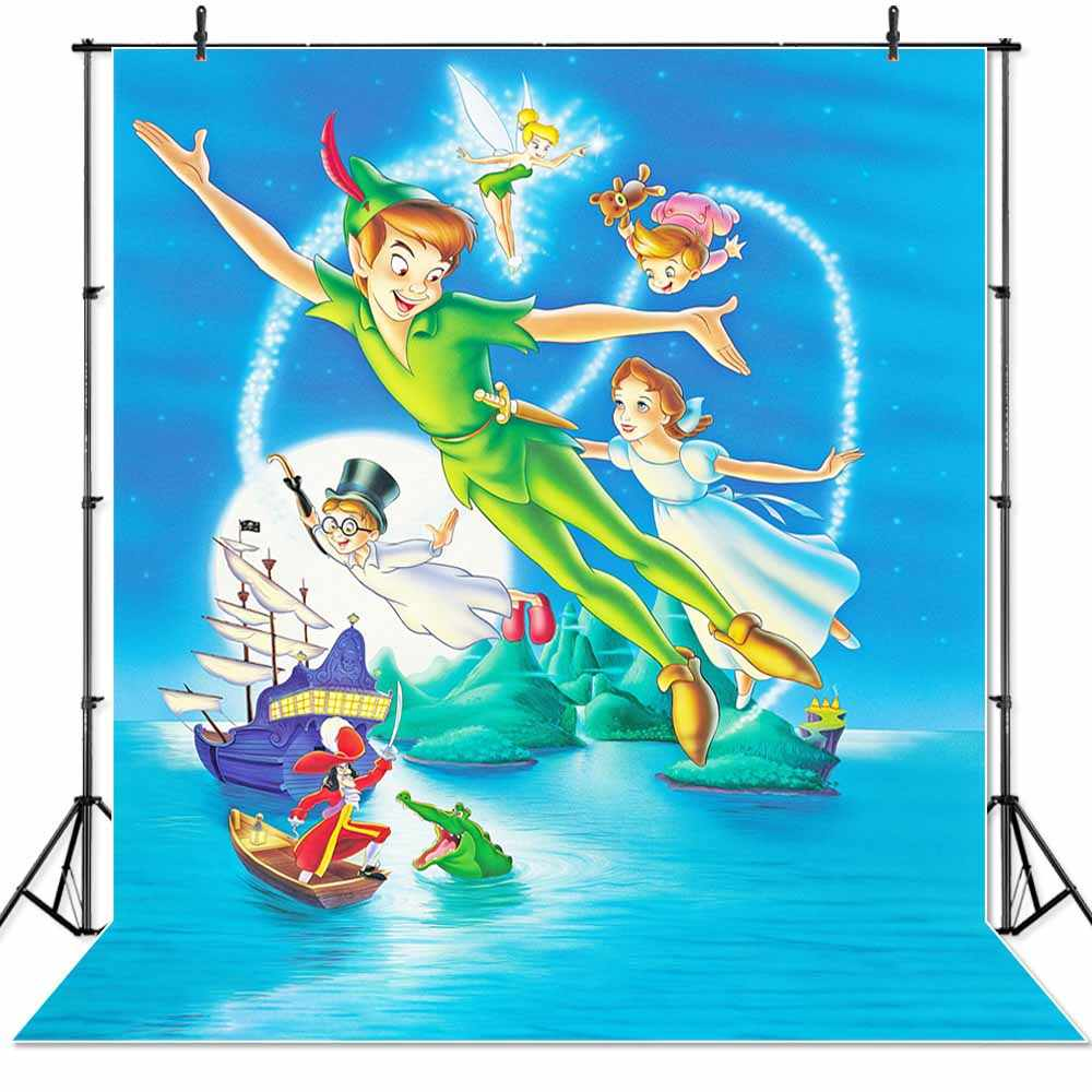 Seeprowinyl Peter Pan statek zdjęcie dzieci tła zdjęcie urodzinowe Banner peronalizowany Photocall tło
