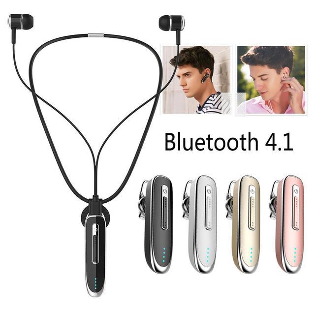 K2 Bluetooth Headset Handsfree Earphone Earset Wireless Stereo Neckband Earclips Long Stand-by Gaming Musical Headphone Earhook