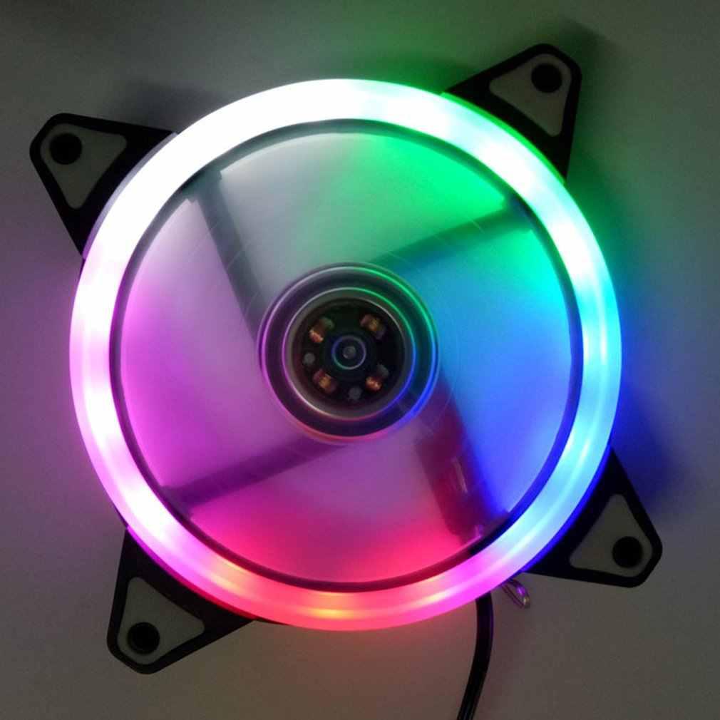Ledライト超静音耐久性のあるアルミpcのcpuクーラーサイレント冷却ファンcpuクーラー用コンピュータ