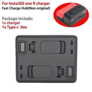 Image 5 - Originele Batterij Base/Snelle Lading Hub/Accessoires Voor Insta360 Een R Batterij