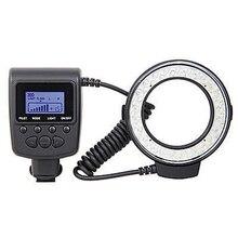 Macro LED Round Flash Light with 8 Adapter Rings Camera Photo Light Speedlight Kit With 7 brightness Adjustment,