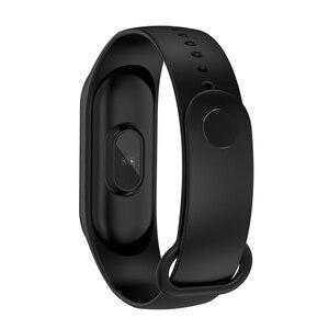 Image 2 - M4 在庫 Smartband フィットネストラッカースマートウォッチ活動 Bluetooth ブレスレット血圧モニター男性女性