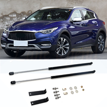 For Infiniti QX30 2017-2020 Car Bonnet Hood Spring Gas Support Rod Lift Strut Bars Spring Shock Bracket Car Styling Refit gas spring free shipping car auto 90kg 900n force ball studs lift strut metal gas spring 900mm 400mm