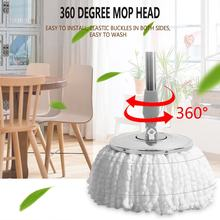 Household Microfiber Floor Mop Head Magic Replacement Automatic Mop Head 360 Spin Cleaning Pad Home Clean Tools Drop Shipping(China)