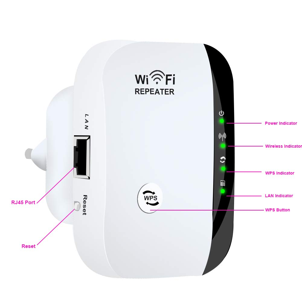 Wifi Repeater Wifi Signal Amplifier Wifi Range Extender 300 Mbps Wi fi Booster Wireless Wi-fi Repeater 802.11n WPS Access Point 2