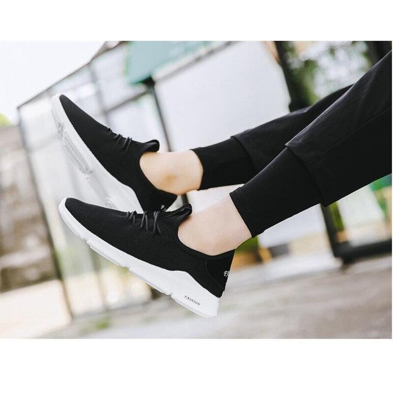 2019 Zomer Nieuwe Mannen Schoenen Lac up Mannen Casual Schoenen Lichtgewicht Comfortabele Ademend Paar Wandelen Sneakers Feminino Zapatos - 4