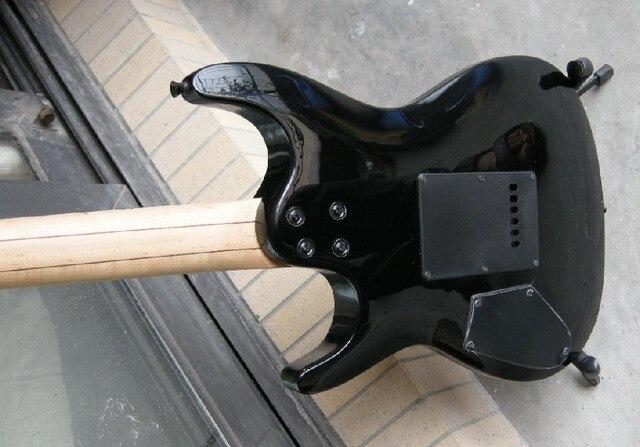 Guitare électrique sunburst v de haute qualité personnalisée avec pont Floyd tremolo 7yue19