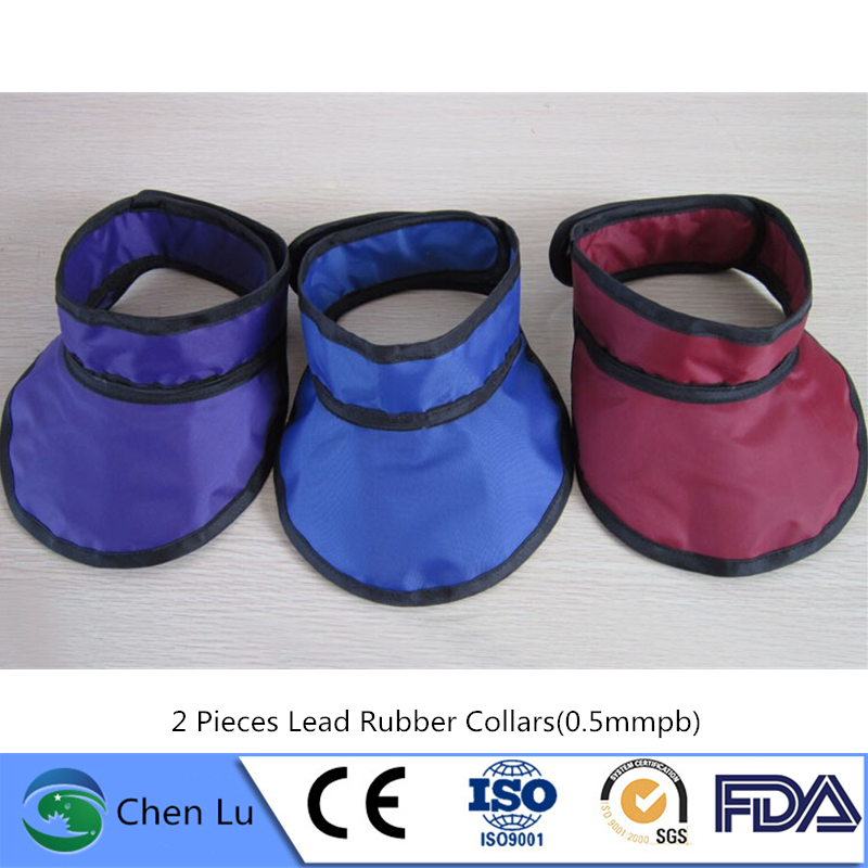 Wholesale 2 Pieces X-ray Protective Thyroid Collar Hospital, X-ray Machine Radiological Protection 0.5mmpb Lead Collar
