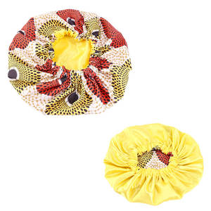 Satin Bonnet Accessories Hair-Loss-Cover Sleep-Cap Print African-Pattern Extra Large