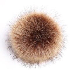 15cm pompom coloful da pele do falso para o chapéu feminino da pele do falso pom pompons para chapéus bonés tamanho grande pompom para o tampão de chapéu de malha por atacado quente