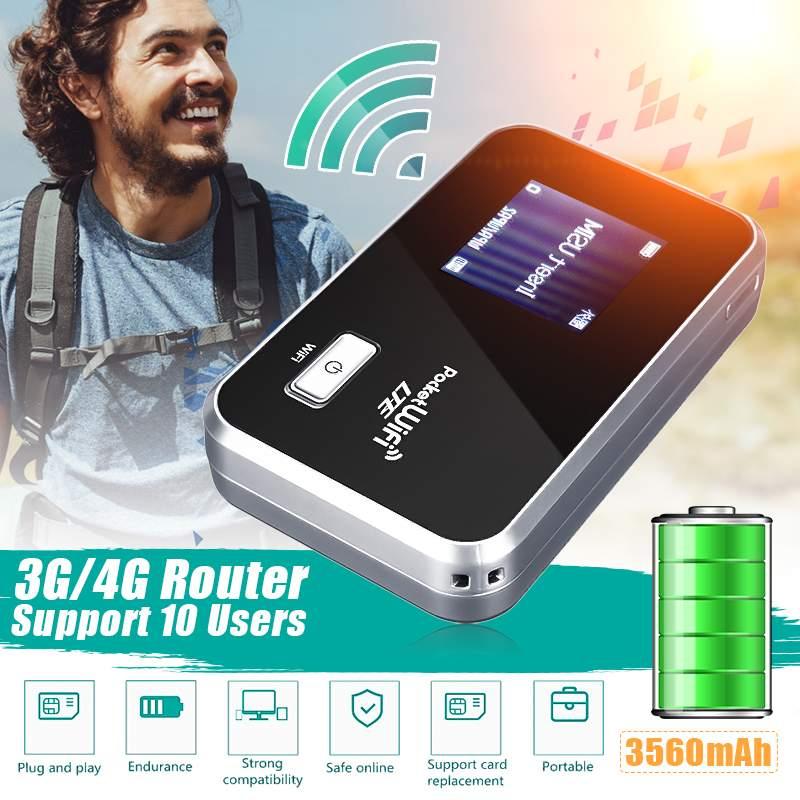 Portable 2G/3G/4G Mobile WiFi Wireless Pocket Hotspot Router Broadband 3560mAh Long Standby Time