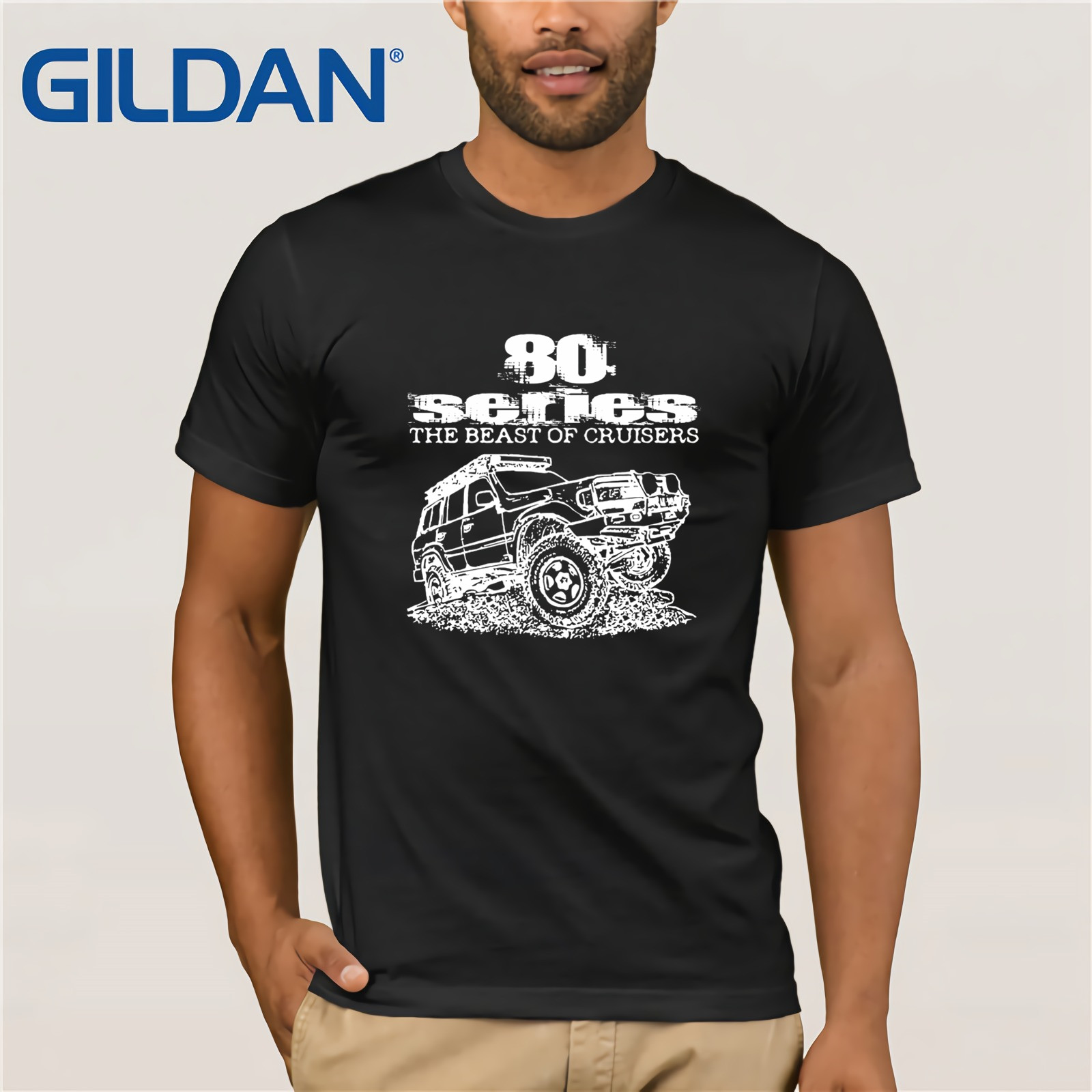 2020 New Fashion Brand Clothing 80 Series The Beast Of Cruisers With Fzj80 Land Cruiser Design  Printing Shirt