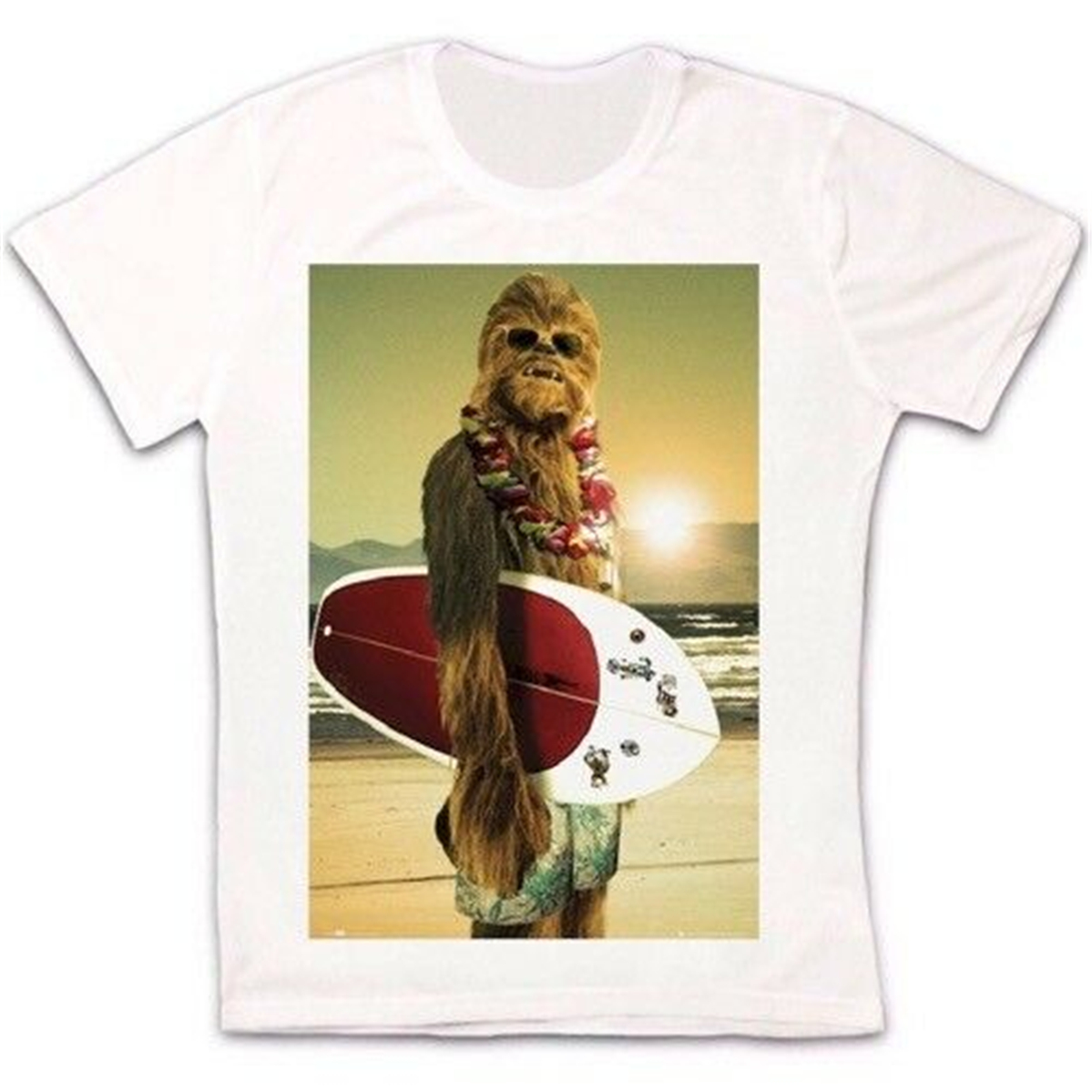 Chewbacca From Star Wars Surfing T-Shirt Homme