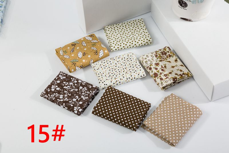 He3fa7b1539e748ba9f4d96042abd9cd1Z 25x25cm and 10x10cm Cotton Fabric Printed Cloth Sewing Quilting Fabrics for Patchwork Needlework DIY Handmade Accessories T7866