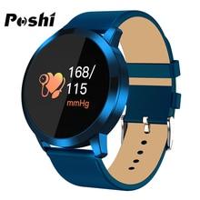POSHI reloj inteligente con Bluetooth para hombre y mujer, reloj de pulsera deportivo con pantalla síncrona para medir la presión sanguínea y la oximetría