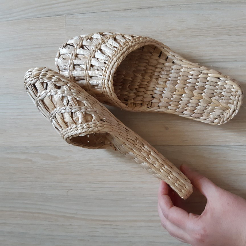 2020 Summer Ladies Slippers Hand-woven Straw Shoes Fashion Couple Home Shoes New Beach Shoes CX-LK