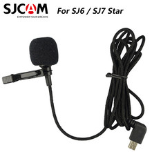 Original SJCAM Brand External Microphone mic with clip for SJCAM SJ6 LEGEND / SJ7 Star / SJ360 Sports Action Camera Accessories(China)