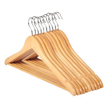 10pcs Solid Wood Hanger Non Slip Hangers Clothes Hangers Shirts Sweaters Dress Hanger Drying Rack for Home