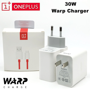 Image 1 - Original OnePlus 7T Pro Warp Charger 5V 6A EU/US Wall Dash 30 Charge adapter fast usb c cable For Oneplus 7 T 8 8T Pro 6T 6 5T 5