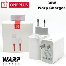 Original oneplus 7 t pro warp carregador 5 v 6a ue/eua parede traço 30 adaptador de carga rápido usb c cabo para oneplus 7 t 8 t pro 6 t 6 5 t 5