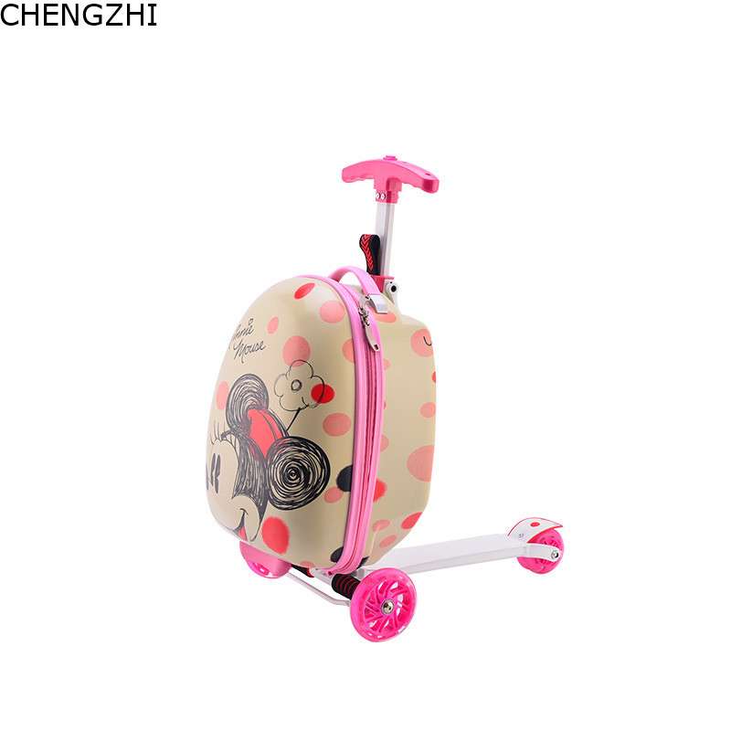 Bag Trolley Scooter Luggage Carry On Cute Child 16--Inch CHENGZHI For Kid