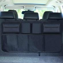 Органайзер для багажника автомобиля, регулируемая сумка для хранения на заднем сиденье, Сетчатая Сумка с высокой емкостью, многофункциональные универсальные органайзеры для спинки автомобильного сиденья из Оксфорда
