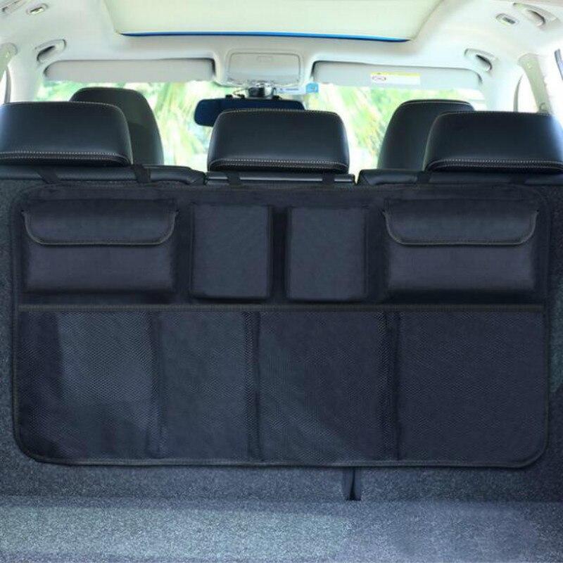 Organizador del maletero del coche bolsa de almacenamiento ajustable del asiento trasero red de alta capacidad Multi-uso Oxford asiento del automóvil organizador Universal