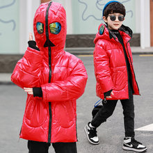 Jacket Coat Outerwear Down Kids Winter Cotton Boys for with Glasses In-The-Hood Waterproof