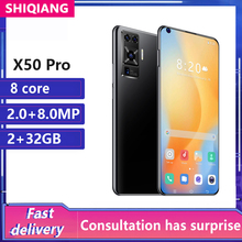 Global Version X50 Pro Mobile Phones Android 6.8Inch 4800mAh 2+32GB Octa Core 2MP+8MP Cellular Phone Face Unlocked CellPhones