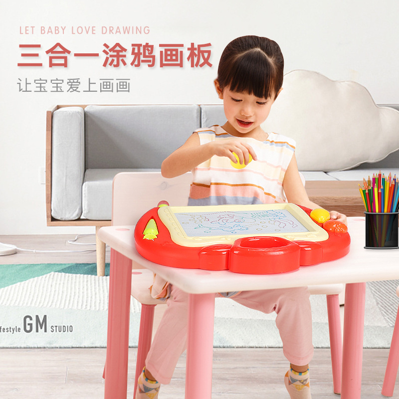 Multi-functional 3-in-1 Sketchpad Xue Xi Jia Children Magnetic Doodle Board 1-3-Year-Old 2 Large Size Baby CHILDREN'S Toy Factor