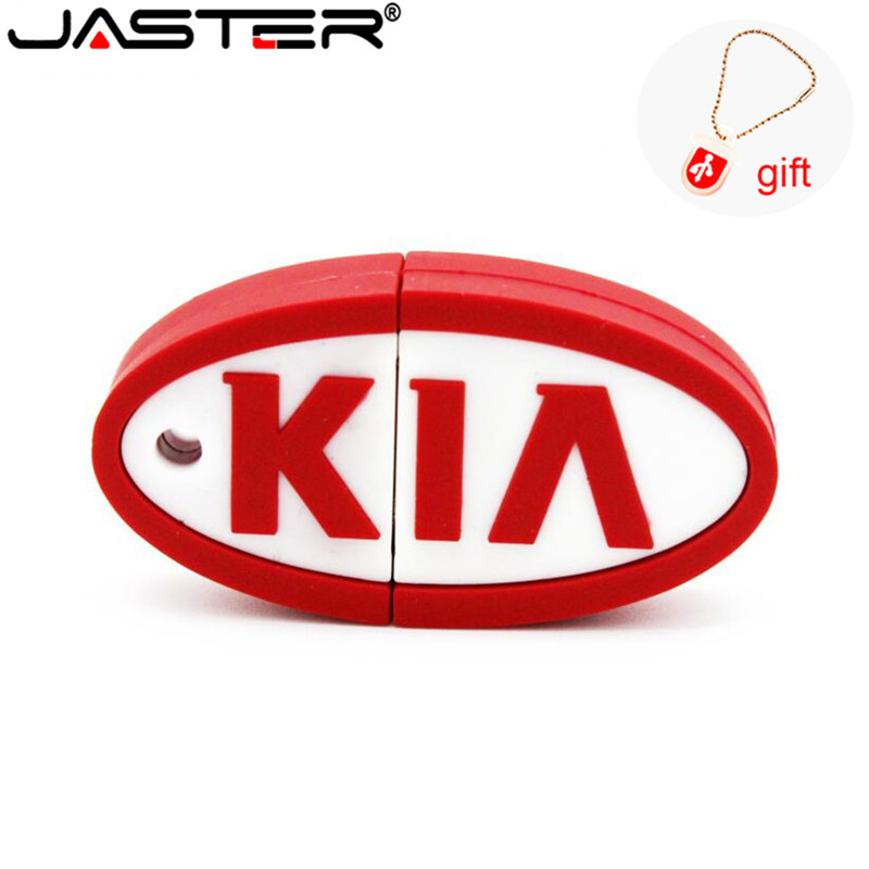 JASTER KIA Pen Drive Silicone Car Key 4GB 8GB 16GB 32GB 64GB Bulk Cartoon Usb Drive Pendrive Usb Flash Drive Memory Stick Gift
