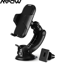 Mpow Dashboard Car Mount Adjustable Windshield Holder Cradle with Universal Air Vent Stand 360 Degree Rotation