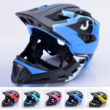 2019 New kids bicycle helmet full face Safety helmets EPS+PC 13 vents Integrally-molded Removable chin bike for Children