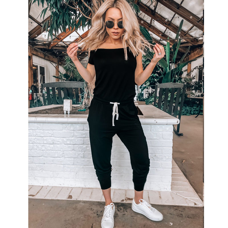 1PC New Ladies Jumpsuit Summer Women's Off Shoulder Playsuit Bodycon Long Sleeve Jumpsuit Romper Trousers Add Free Gift Toy