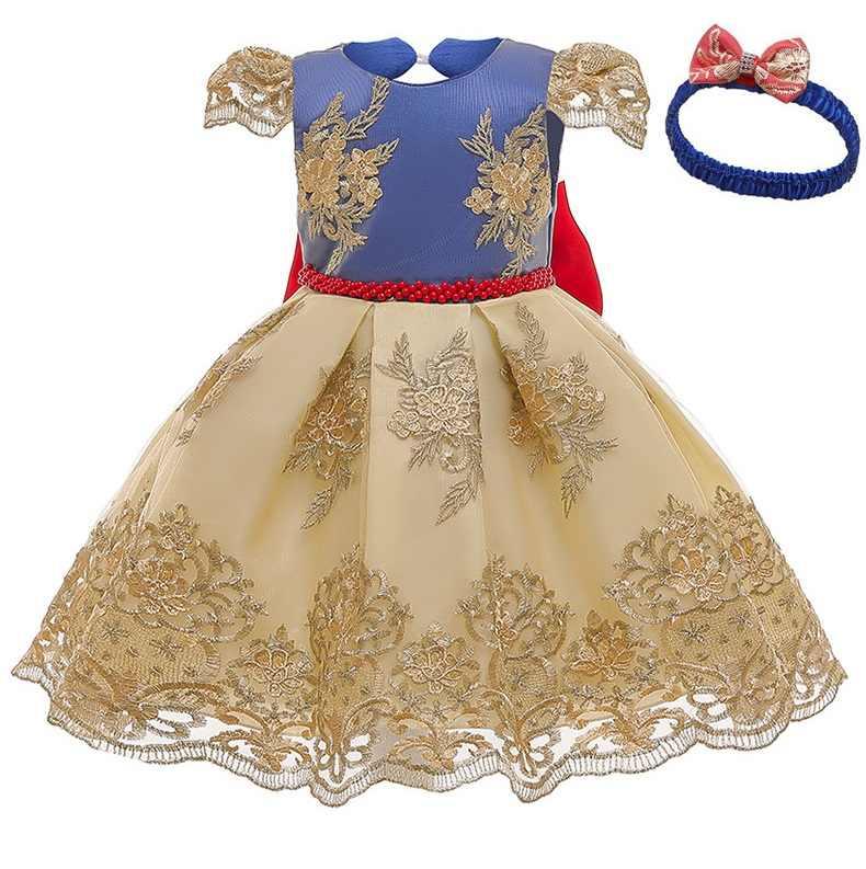 ילדה שמלת Baptismal שמלה לתינוק ורוד עלה כותרת אלגנטית פרח בנות חתונה שמלות טוטו נסיכת תינוקת שמלה