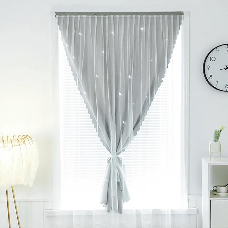 rideau velcro sans besoin de poinconner ombrage fil lumineux anti uv installation facile rideaux de fenetre pour la maison chambre a coucher