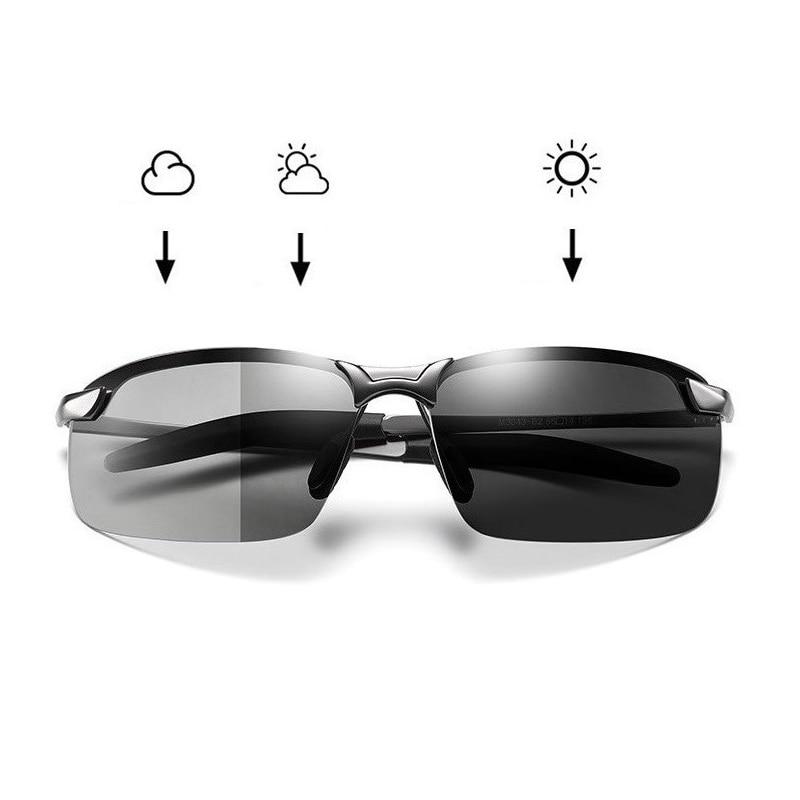 Occhiali da sole fotocromatici uomo polarizzati guida camaleonte occhiali uomo cambia colore occhiali da sole visione notturna occhiali da guida 1