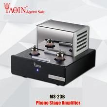 YAQIN MS 23B صمام مُضخّم صوت فونو مرحلة مم RIAA قرص دوار HiFi ستيريو MS23B فراغ أنبوب Preamplifier 110 240 فولت