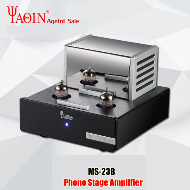YAQIN MS 23B Valve Tube Amplifier Phono Stage MM RIAA Turntable HiFi Stereo MS23B Vacuum Tube Preamplifier 110 240V