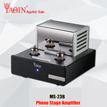 YAQIN MS 23B vana tüp amplifikatör fono sahne MM RIAA Turntable HiFi Stereo MS23B vakumlu tüp preamplifikatör 110 240V