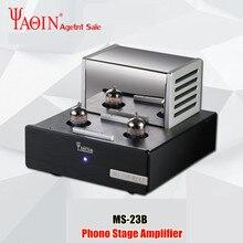 Yaqin MS 23B amplificador de tubo de válvula phono estágio mm riaa plataforma giratória de alta fidelidade estéreo ms23b tubo de vácuo pré amplificador 110 240v