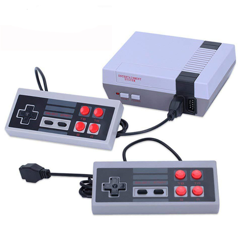 2020 Mini TV Handheld Family Recreation Video Game Console AV Output Retro Built-in 620 Classic Games Dual Gamepad Gaming Player image