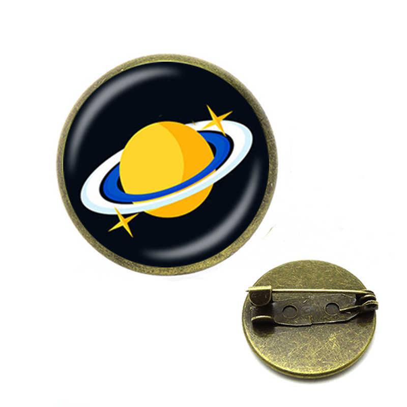 Nove Pianeti del Sistema Solare Spille Astronomia Maglione Pilota Razzo Spille Mercurio Terra Cosmic Spilla Spazio Universo Del Pendente Dei Monili