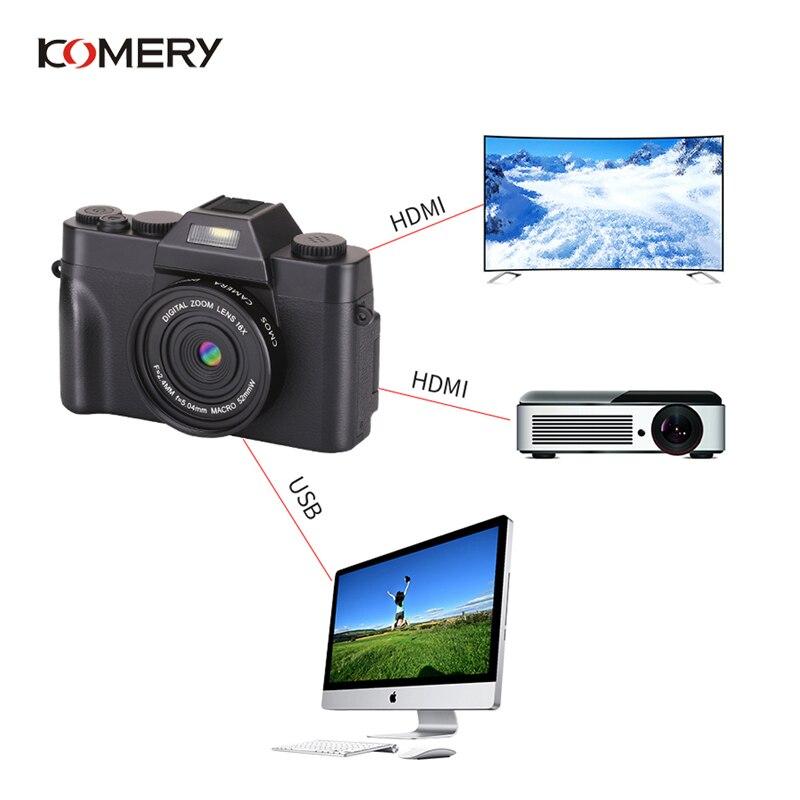 KOMERY Professionelle Digitale Kamera 3,0 Inch LCD Flip Screen 4K Video Kamera 16X Digital Zoom HD Ausgang Unterstützung WiFi selfie Cam - 5